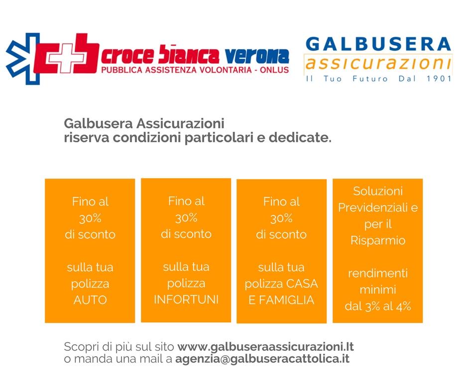 Convenzioni Galbusera Assicurazioni – Croce Bianca di Verona
