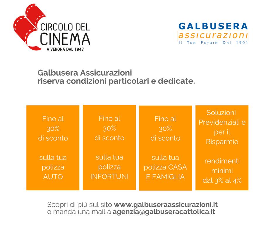 Convenzioni Galbusera Assicurazioni – Circolo del Cinema